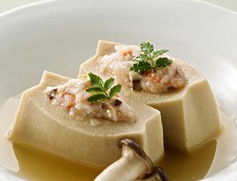 高野豆腐のはさみ煮